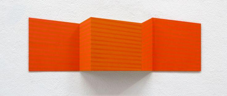 Oblong4, 2011, 22x70x5cm, Acryl auf Alublech, Edgar Diehl
