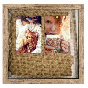 Oak Look Shadow Box Picture Frame