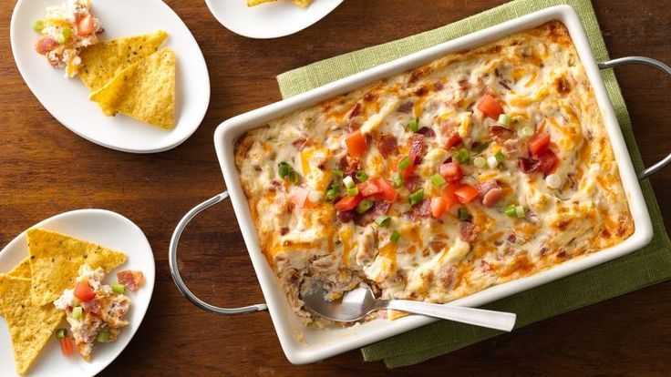 Baked BLT Dip. *Very good! Serve warm with ruffles or tortilla chips. Tastes like a loaded backed potato.*