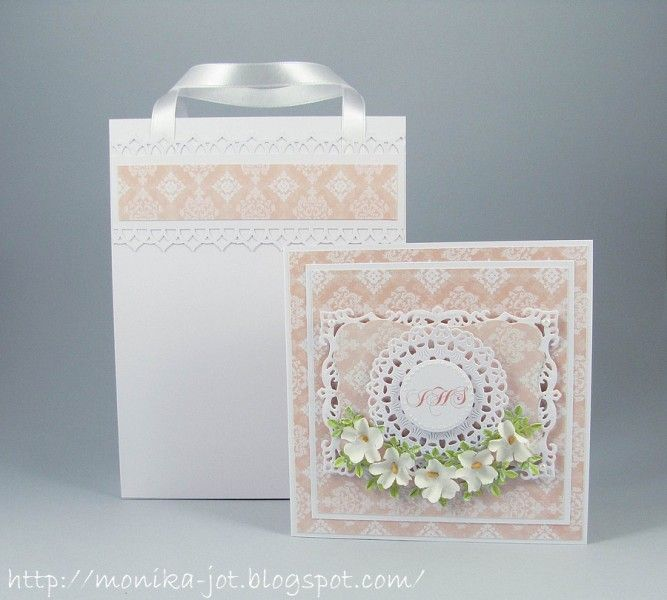 First communion card in a bag