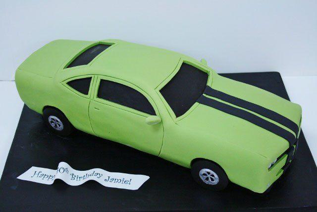 3D Car Birthday Cakes NJ - Custom Dodge Challenger Cake PV
