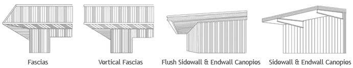 Prefab Metal Building | Exterior Options | Rhino Steel Building Systems