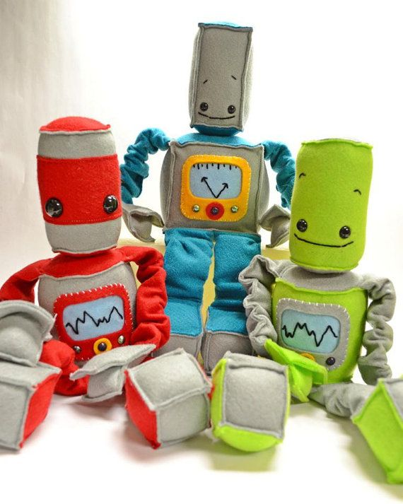 Christmas is coming! Place your orders while you can!! Adorable Felt Robot  Customize Your Own Best Buddy by whimseycraft, $50.00