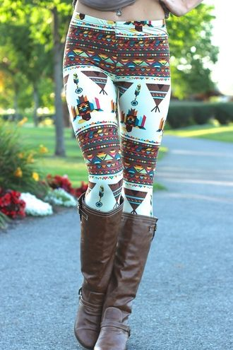 Indian Feather Leggings