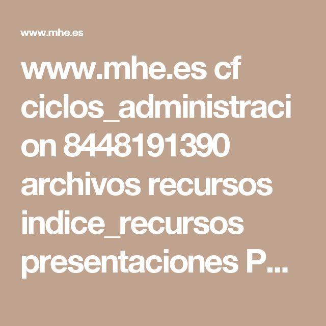 www.mhe.es cf ciclos_administracion 8448191390 archivos recursos indice_recursos presentaciones PPt_resumen_U04.pptx