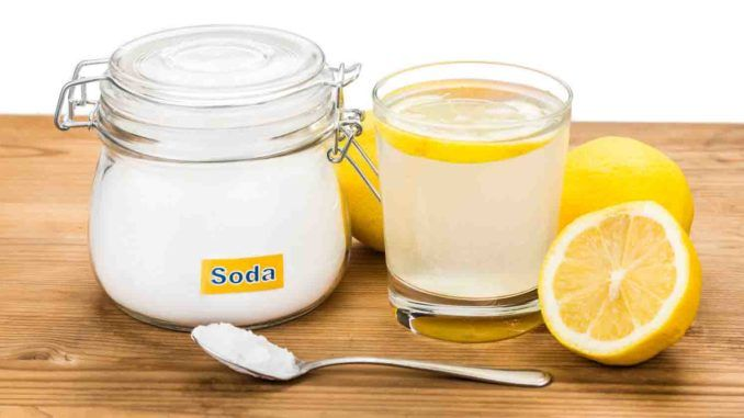 cytryna z sodą oczyszczoną