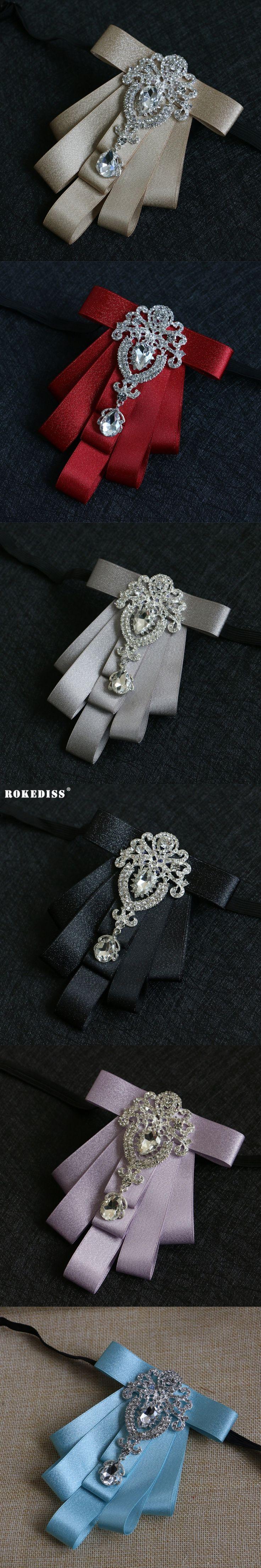 ROKEDISS 2017 New collar collar flower Korean bow tie men's groom wedding dress diamond collar flower collar tide Z271