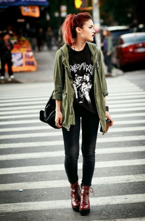 i am like in love with this chick // her style is just so amazing. i need to pick her brain and steal shit from her closet.