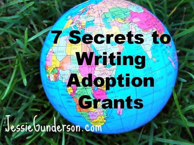 Christian adoptive mom's 7 secrets to writing adoption grants/