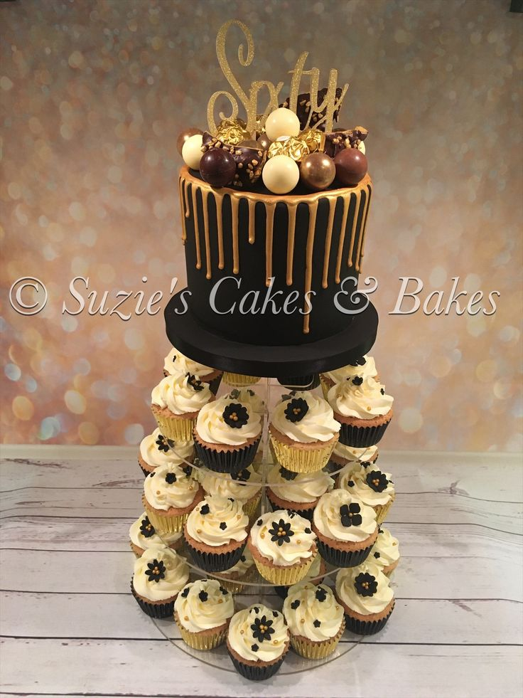 Ivory & Gold Drip Cake - Cake by Mel_SugarandSpiceCakes