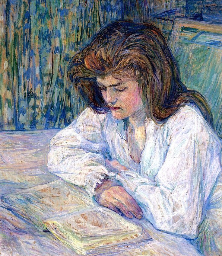 La lectora (1889). Henri de Toulouse-Lautrec.