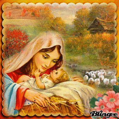 Дева Мария. Virgin Mary with Baby Jesus.