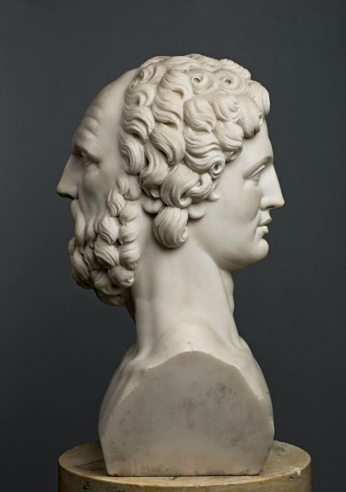 hadrian6:  Herm - The Two Faces of Janus.  Italian. late 18th.century. marble.  Hermitage St.Petersburg Russia. http://hadrian6.tumblr.com