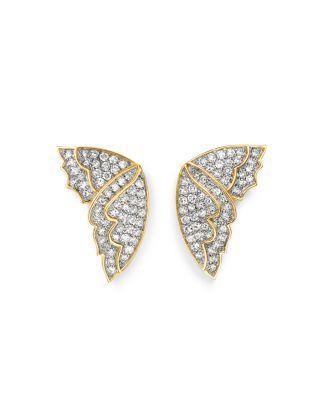 9734107aa Bloomingdale's Diamond Butterfly Wing Stud Earrings in 14K Yellow Gold,  0.50 ct. t.w. - 100% Exclusive | Bloomingdale's
