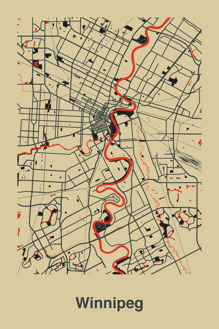 Winnipeg, Canada | crushed berry + frozen gravel + freezing #map #winnipeg #canada