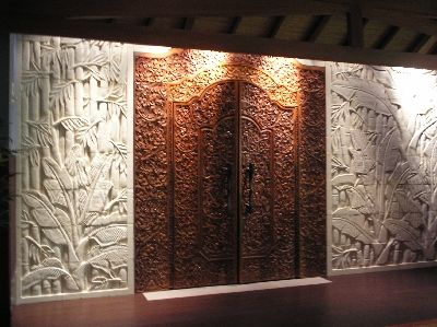 Balinese Doors On A Feature Wall Bali Style Home