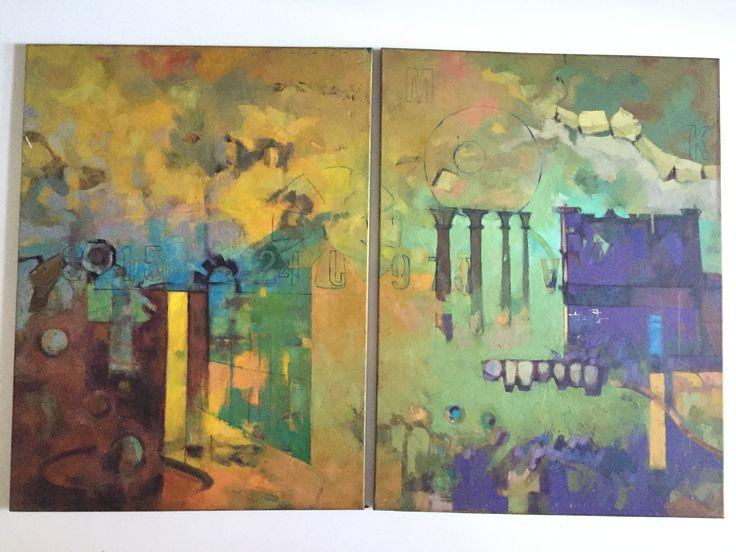 Tropos Mundi oleo sobre lienzo 164*100 cms