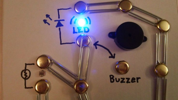 This is a great way for kids to have a fun hands on time for kids to learn the basics of electronics and think they are playing with a cool toy.
