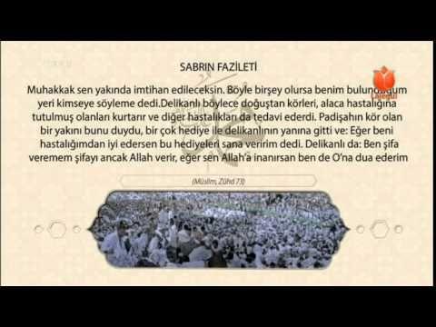 Sabrın Fazileti Riyazü's Salihin
