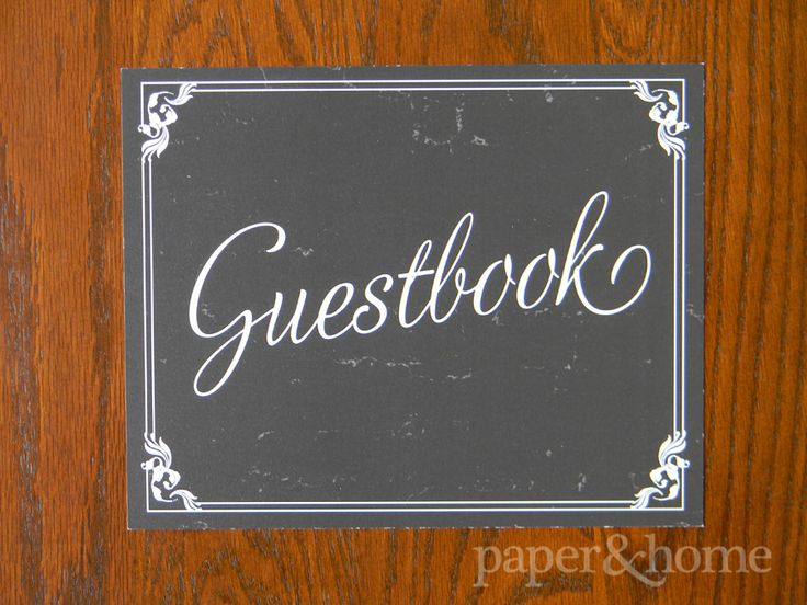 Old Hollywood Party Accessories: Guestbook Sign