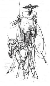 Toppi esquisse Don Quichotte