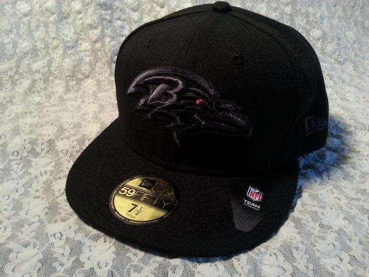 Baltimore Ravens NFL New Era Black 59FIFTY Hat Cap size 7 1/2 New #NewEra #BaltimoreRavens