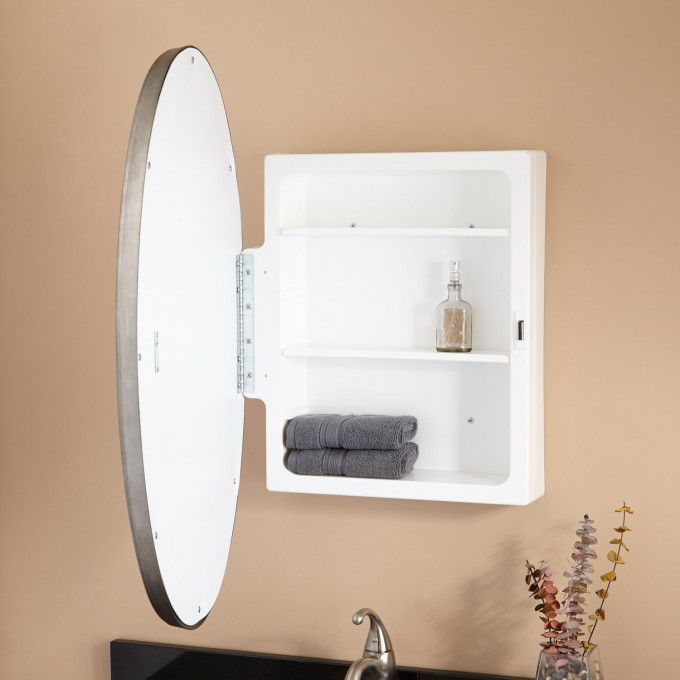 Warwick Classic Oval Medicine Cabinet With Mirror With Images