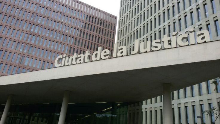 Ciutat de la Justicia de Barcelona. Aquí encontramos agrupados los juzgados de Barcelona y los de Hospitalet de llobregat