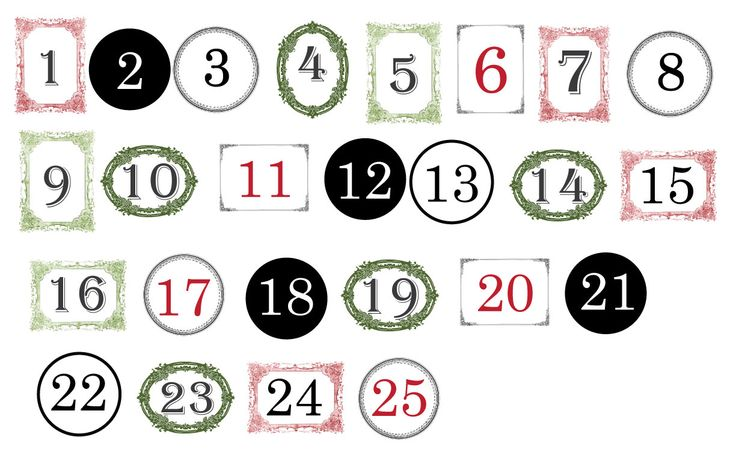 11 best advent calendar numbers to print images on ...