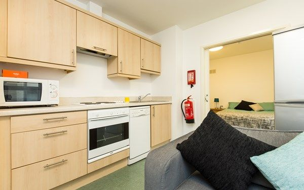A studio apartment that we offer our students at The Castle who are studying in Sheffield