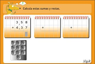 Suma y restas de números decimales