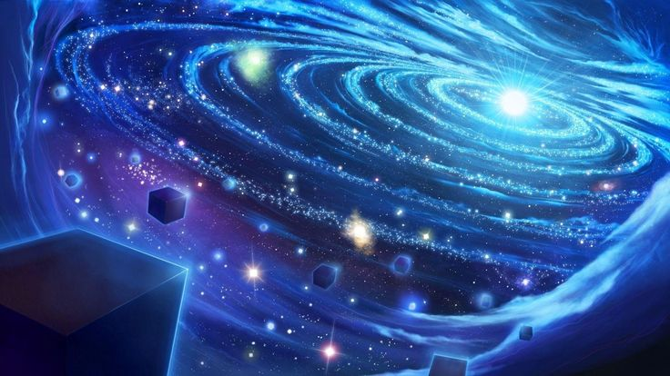 Light Art Blue space Star Universe Digital Galaxy HD Wallpapers ...