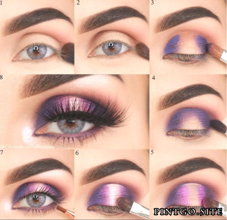 60 Stunning Eyeshadow Tutorial For Beginners Step By Step Ideas   見事な紫…