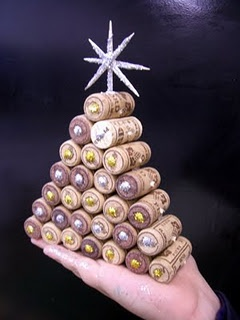 cork christmas trees...this makes me chuckle a little.