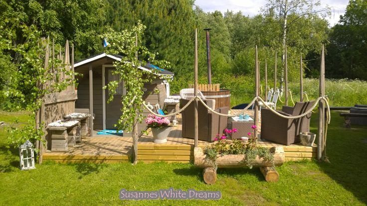 Our sauna and palju area