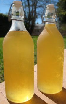 limoncello - rinds of 6-7 lemons, 1/2 liter pure alcohol (pure vodka or everclear), 1 liter water, 2-1/2 cups sugar. soak rinds in alcohol for 10 days, filter the rinds from alcohol. make simple syrup with sugar and water (heating water adding sugar until dissolved.) combine syrup and alcohol in bottle and freeze. serve cold.