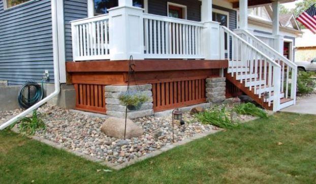 Inexpensive Deck Skirting Ideas Deck Skirting Building A Deck