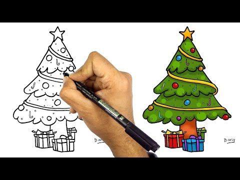 تعليم الرسم للاطفال تعلم رسم شجرة الكريسماس خطوة بخطوة للمبتدئين Youtube Cards Draw