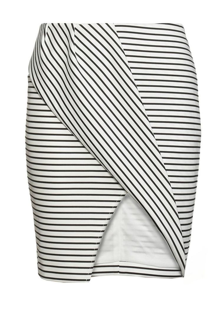 Finders Keepers TIGHTROPE Spódnica mini schwarz/weiß