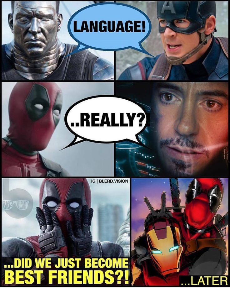 He's my friend  Via @blerd.vision  #Deadpool #ironman #captainamerica #colossus by marvelousfacts