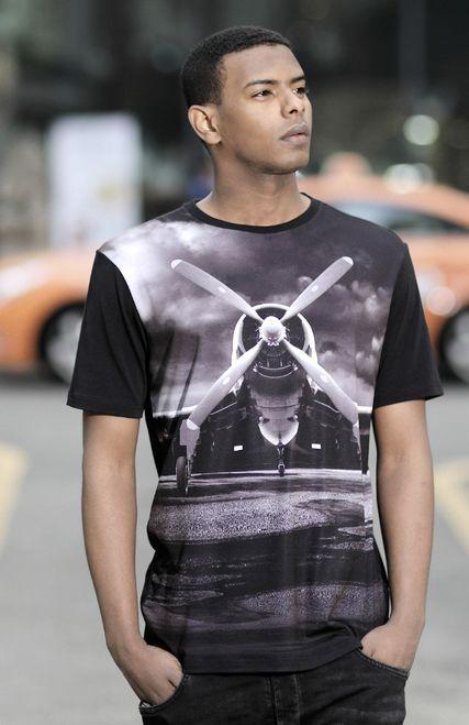 propeller print t-shirt