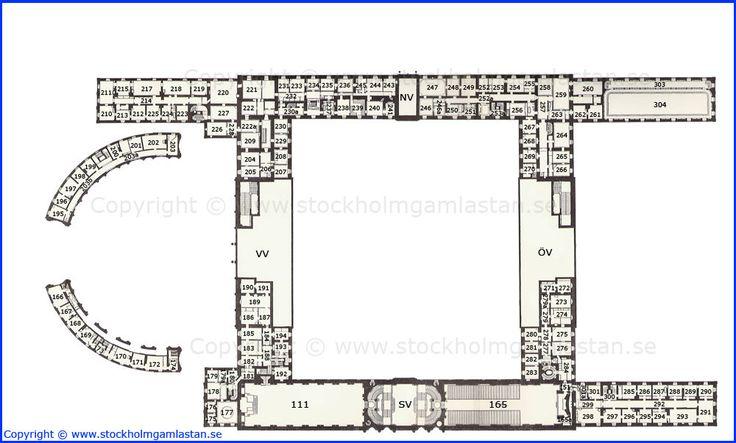 First Mezzanine Floor Plan Kungliga Slottet Royal Palace