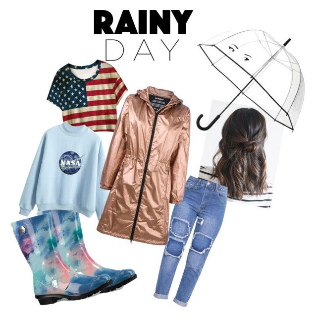 """""""Rainy day ☔️"""" by ashworthjessica on Polyvore featuring WithChic, UGG, Kate Spade and Ecoalf"""