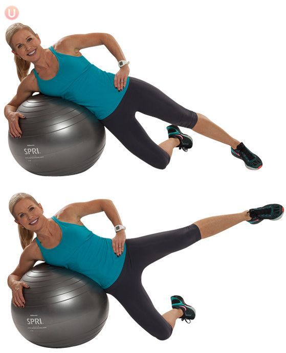 Must-Do Strength Training Moves for Women Over 50: Stability Ball Side Leg Lift
