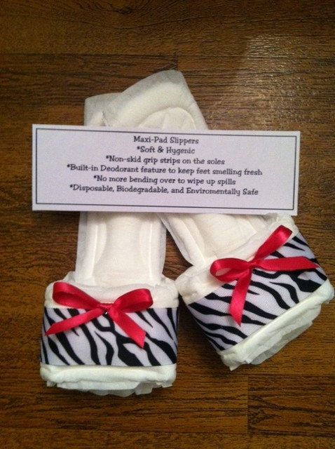 Zebra Print Maxi Pad Bedroom Slippers with Pink by kraftsbydonna, $3.75