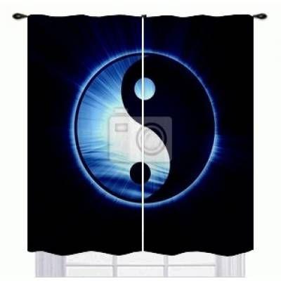 Yin Yang Window Curtains