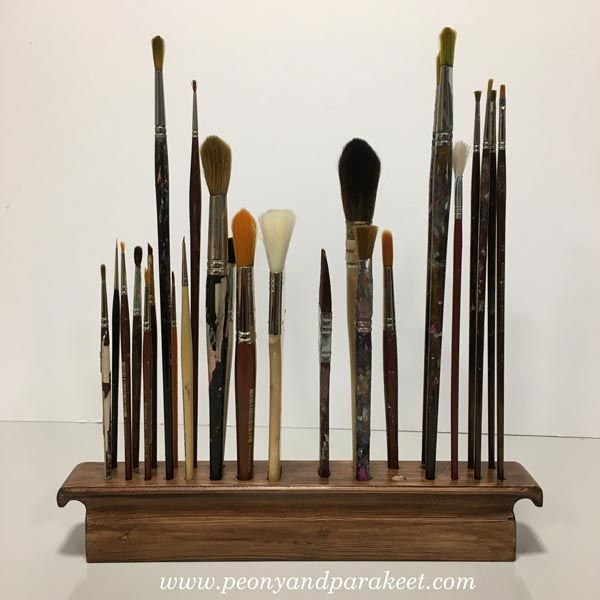 Paint Brush Holders and Artful Woodworking