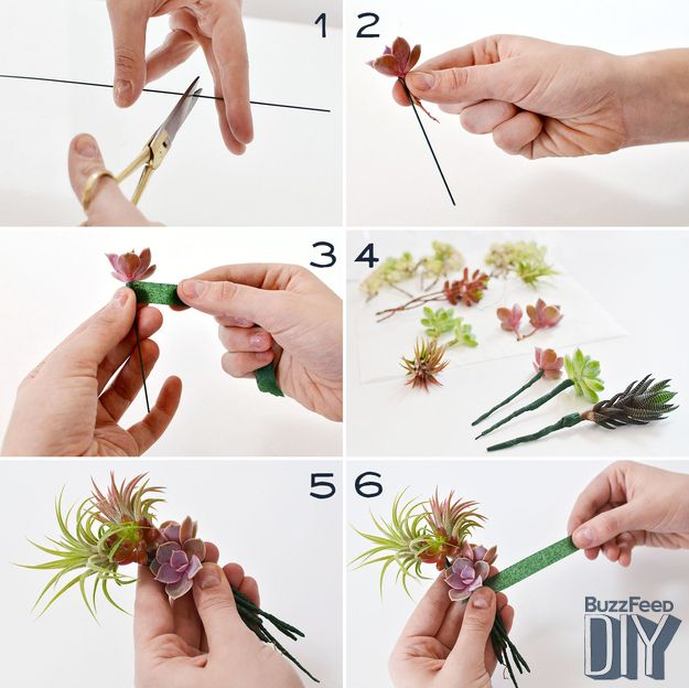 Succulent Corsages and Boutonniere. I suddenly need an occasion to make these