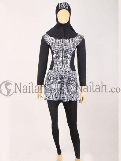 3 pcs - Simple motif Baju renang muslimah