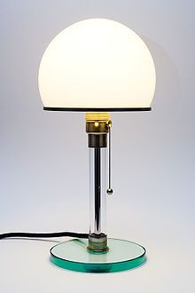 Wilhelm Wagenfeld lamp (1924) a Bauhaus classic.